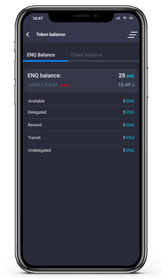 mobile wallet screen
